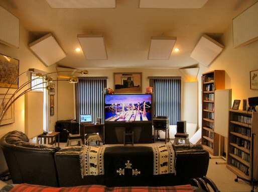 Realtraps products for Living room acoustic treatment